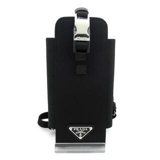 プラダ(PRADA)のプラダ 携帯電話ケース新品同様  1ZT023 黒(モバイルケース/カバー)