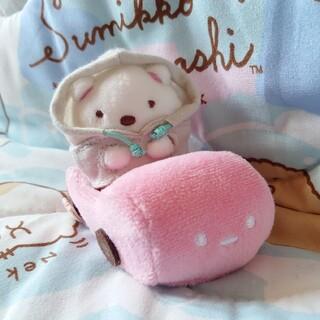 サンエックス - ★すみっコぐらし★しろくま パーカー ピンクのくるま てのりぬいぐるみ★美品2点