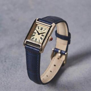 ユナイテッドアローズ(UNITED ARROWS)の新品 UNITED ARROWS スクエア レザーベルト 腕時計 ネイビー(腕時計)