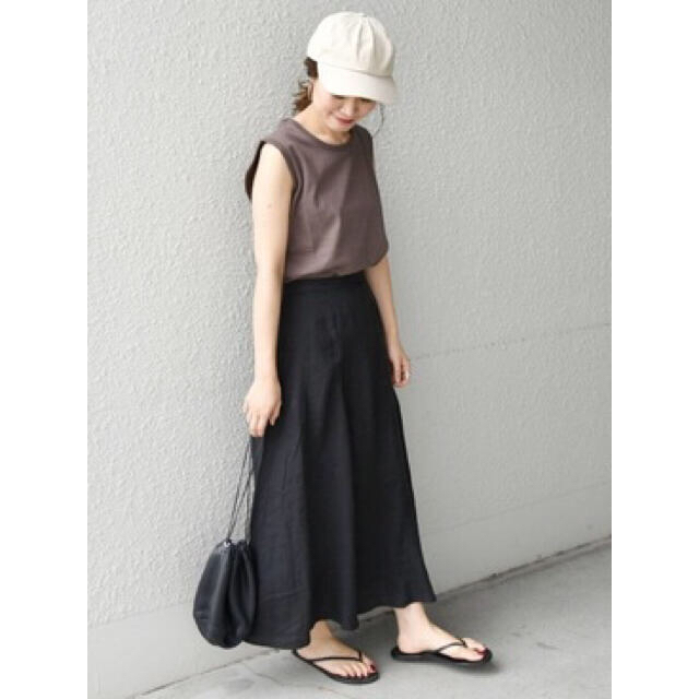 SHIPS for women(シップスフォーウィメン)のSHIPS WOMEN 【WEB限定】リネンヘムフレアスカート 新品 レディースのスカート(ロングスカート)の商品写真