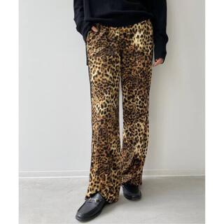 アパルトモンドゥーズィエムクラス(L'Appartement DEUXIEME CLASSE)のL'Appartement Leopard Side Line Pants 34(カジュアルパンツ)