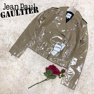Jean-Paul GAULTIER - ♡タグ付き♡ジャンポールゴルチエ エナメル ライダースジャケット ベージュ M