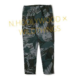 エヌハリウッド(N.HOOLYWOOD)のN.HOOLYWOOD x WILDTHINGS 別注 カモフラナイロンパンツ(ワークパンツ/カーゴパンツ)