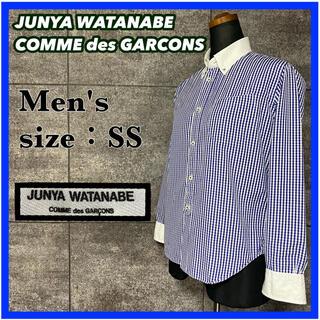 JUNYA WATANABE COMME des GARCONS - 【秋物】ジュンヤワタナベ コムデギャルソン 長袖シャツ ブルー チェック柄