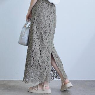 ヴィス(ViS)のViS 幾何学レーススカート(ロングスカート)