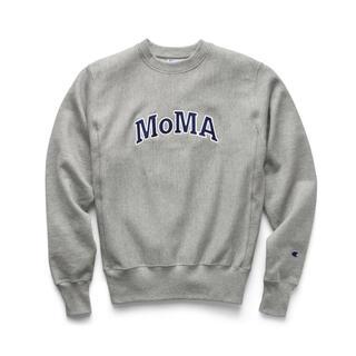 モマ(MOMA)の【Lサイズ】 海外限定 MOMA × champion スウェット グレー(スウェット)