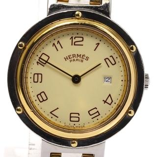 エルメス(Hermes)のエルメス クリッパー デイト  クォーツ ボーイズ 【中古】(腕時計(アナログ))