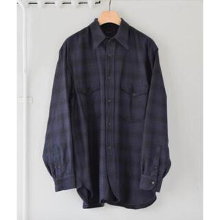 COMOLI - comoli 21aw コモリ ウールシルク チェック ワークシャツ