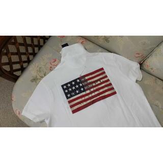 ラルフローレン(Ralph Lauren)の新品☆ラルフローレン ポロシャツ 白 US M 国旗(ポロシャツ)