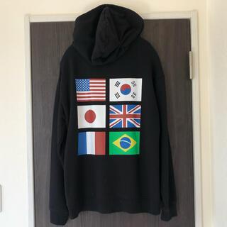 フォーエバートゥエンティーワン(FOREVER 21)のForever21  国旗パーカー 星条旗(パーカー)
