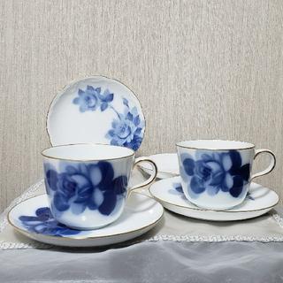 オオクラトウエン(大倉陶園)の大倉陶園 モーニングカップ&ソーサー&銘々皿 2セット(食器)