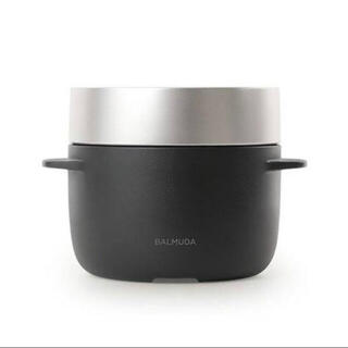 バルミューダ(BALMUDA)のバルミューダ     ゴハン 炊飯器 ブラック ゆず様専用(炊飯器)