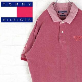 トミーヒルフィガー(TOMMY HILFIGER)のトミーヒルフィガー 半袖ポロシャツ 超ゆるだぼ 刺繍ワンポイントロゴ 綿100%(ポロシャツ)