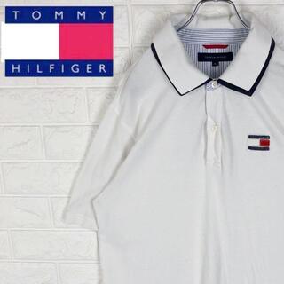 トミーヒルフィガー(TOMMY HILFIGER)のトミーヒルフィガー 半袖ポロシャツ ゆるだぼ ワンポイントロゴ コットン100%(ポロシャツ)