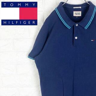 トミーヒルフィガー(TOMMY HILFIGER)のトミーヒルフィガー 鹿の子 半袖ポロシャツ 刺繍ワンポイントロゴ ゆるだぼ90s(ポロシャツ)