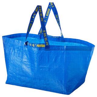 イケア(IKEA)のFRAKTA フラクタ キャリーバッグ L(エコバッグ)