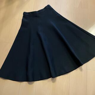 ルシェルブルー(LE CIEL BLEU)のルシェルブルー 圧縮繊維 形状記憶ボリュームドレープスカート 黒 (ロングスカート)
