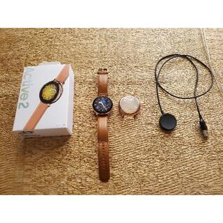 ギャラクシー(Galaxy)のフルカバー付き GALAXY WATCH ACTIVE2 44MM GOLD(腕時計(デジタル))