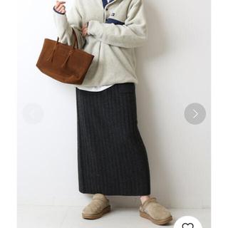 フレームワーク(FRAMeWORK)のFRAMeWORK ワイドリブポケット付き ニットスカート(ロングスカート)