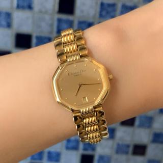 クリスチャンディオール(Christian Dior)の激レア✨ヴィンテージ ディオール★オクタゴン ゴールド ウォッチ レディース時計(腕時計)