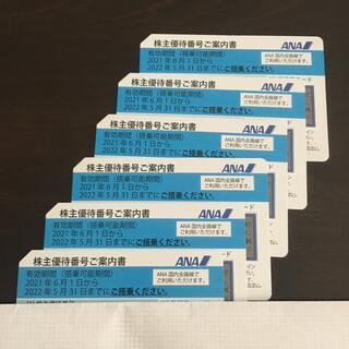 ANA(全日本空輸) - 最新 ANA 全日空 全日本空輸 株主 優待 6枚