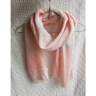 ムジルシリョウヒン(MUJI (無印良品))の無印良品 ストール シルク混 ピンク系(ストール/パシュミナ)