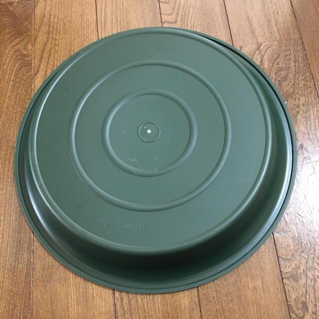 鉢皿 9号 グリーン ハンドメイドのフラワー/ガーデン(プランター)の商品写真