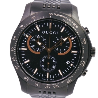 Gucci - クロノグラフグッチ 126.2 SS ブラック クオーツ メンズ 黒 腕時計