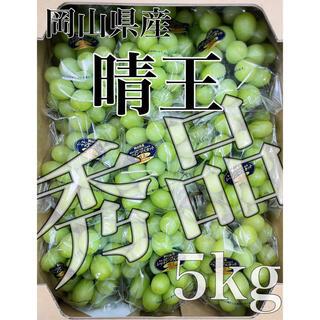 本日ラスト!!岡山県産【シャインマスカット】秀品 9房 5kg!(フルーツ)