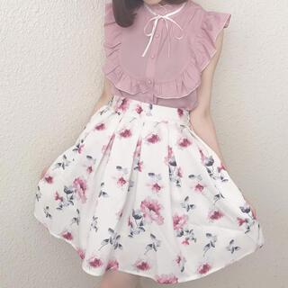 エブリン(evelyn)のevelyn オリジナル花柄スカート(ミニスカート)