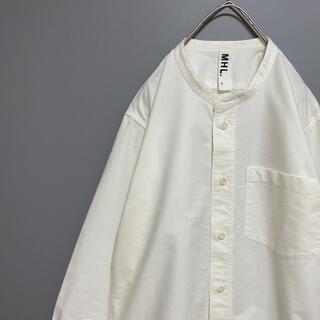 マーガレットハウエル(MARGARET HOWELL)の【美品】MHL. マーガレットハウエル バンドカラーシャツ ノーカラー ホワイト(シャツ)
