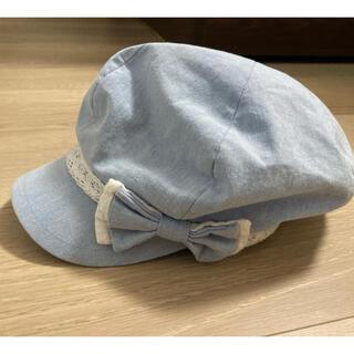 イオン(AEON)のキャスケット水色 54cm(帽子)