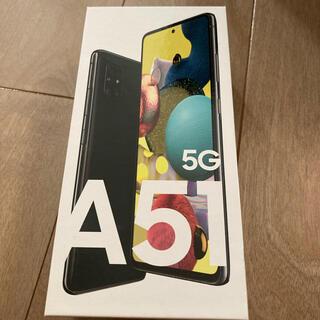 Galaxy - 新品未使用品 SIMフリーGALAXY A51 5G SCG07「BLACK」