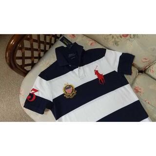 ラルフローレン(Ralph Lauren)の新品☆ラルフローレン ボーダー ポロシャツ 紺白 US L(ポロシャツ)
