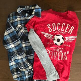 ギャップ(GAP)の2枚セット⭐️GAP チェック柄シャツ&ロングTシャツロングTシャツ&(Tシャツ/カットソー)
