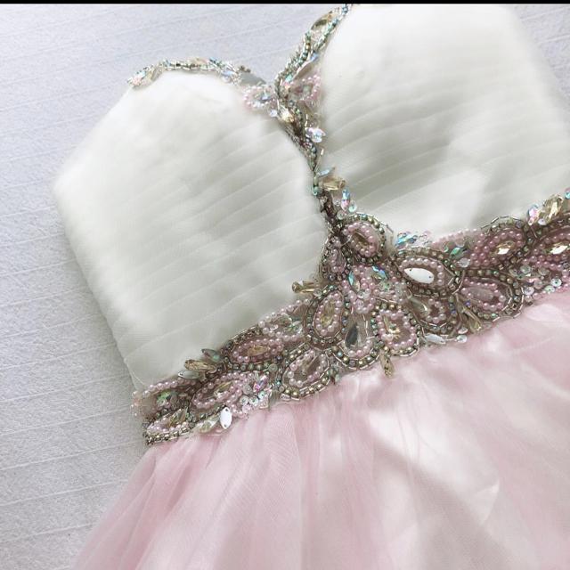 AngelR(エンジェルアール)のキャバドレス AngelR フリフリピンク ナイトドレス レディースのフォーマル/ドレス(ナイトドレス)の商品写真