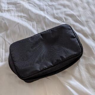 ムジルシリョウヒン(MUJI (無印良品))の無印良品 ナイロンブック型ポーチ 黒(ポーチ)