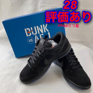 """ナイキ(NIKE)のUNDEFEATED × NIKE DUNK LOW SP """"BLACK""""(スニーカー)"""