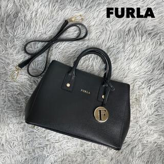 Furla - ●ほぼ未使用・美品●FURLA フルラ リンダミニ レザーハンドバッグ 2way