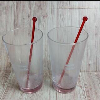 ネスレ(Nestle)のネスカフェ  アイスグラス2個組(マドラー付き)(グラス/カップ)