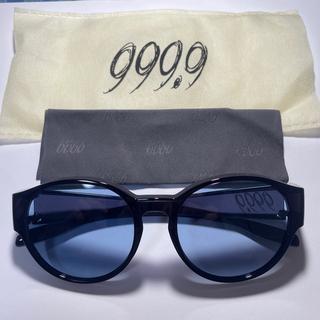 フォーナインズ(999.9)の999.9 フォーナインズ オーバーグラス ブラックフレーム/ブルーレンズ(サングラス/メガネ)