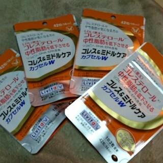 タイショウセイヤク(大正製薬)の大正製薬のリビタ(Livita)コレス&ミドルケア・カプセルW×4(ダイエット食品)