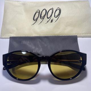 フォーナインズ(999.9)の999.9フォーナインズ オーバーグラス ブラウンフレーム/イエローレンズ(サングラス/メガネ)
