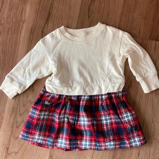 ムジルシリョウヒン(MUJI (無印良品))の【無印】80センチ 長袖 ワンピース スカート(ワンピース)