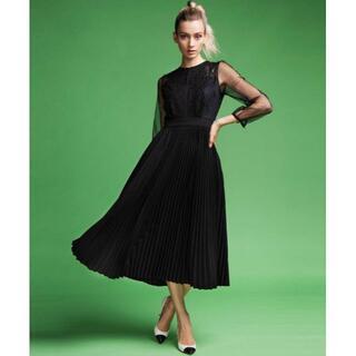 ダブルスタンダードクロージング(DOUBLE STANDARD CLOTHING)の新品-S-CORCOVADO チュールレース&プリーツワンピース¥74,800(ロングワンピース/マキシワンピース)