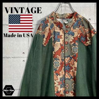 ART VINTAGE - 【入手困難】80s VINTAGE ナイロンジャケット 総柄 ゆるだぼ USA製