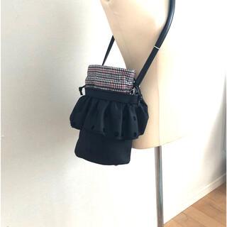 ドゥロワー(Drawer)のセツコサジテール❤️シティ(黒水玉)&レディ(インナー巾着)(ショルダーバッグ)