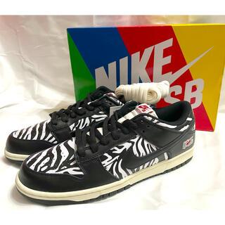 ナイキ(NIKE)のQuartersnacks Nike SB Dunk Low Zebra29(スニーカー)