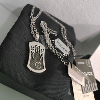 ポリス(POLICE)のポリス POLICE ファイヤープレート ネックレス ファイヤーパターン(ネックレス)