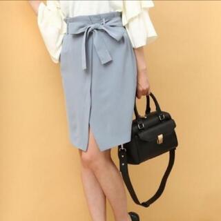 ヴィス(ViS)のvis❤️未使用タグ付き❤️リボンベルト付きスカート(ひざ丈スカート)